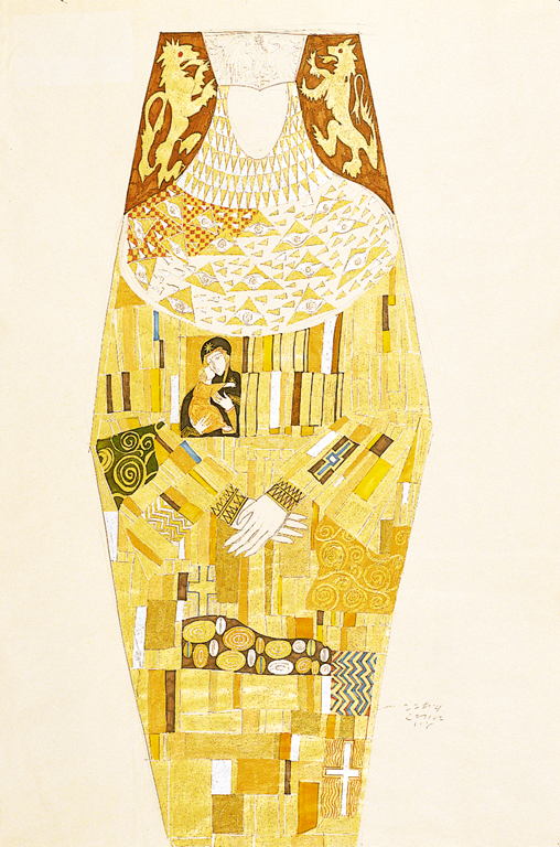 eiko_ishioka_dracula_klimt_inspired_dress_drawing-1